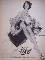 PUBLICITÉ 1952 BAS VITOS PRESTIGIEUSE PARURE D'UNE JOLIE JAMBE - ADVERTISING