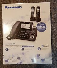 PANASONIC KX-TG592SK Corded Phone w Answering Machine + 2 Cordless Handset SET