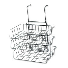 Fellowes Wire Partition Additions Three-Tray Organizer 13 1/2 x 11 7/8 Black
