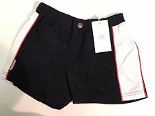 NEW Armani Youth Boys Navy Swim BATHING SUIT Bermuda Shorts T8301 Sz 6 RTL $120