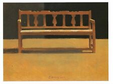 "Postcard Tom Berg ""Spanish Bench"" 1984 Museum Fine Arts New Mexico MINT"