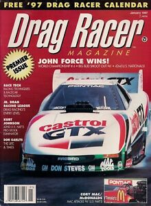 VINTAGE VOLUME #1 ISSUE #1 DRAG RACER MAGAZINE JOHN FORCE 1979 CASTROL FORD