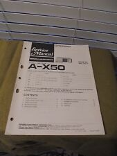 PIONEER A-X50 SERVICE MANUAL