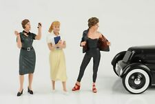 50s 50er Style Girl Woman Set 3 Figures Figure Set 1:18 AMERICAN DIORAMA NO CAR