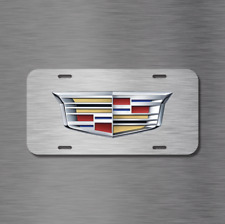 Cadillac Vehicle License Plate Auto Tag CTS ESCALADE XTS SRX Simulated Brushed