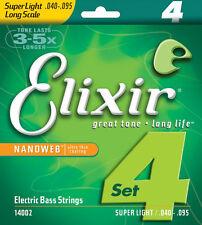 Elixir Nanoweb 14002 Super Light Long Scale Electric Bass Guitar Strings 45 - 95