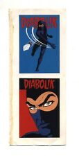 2 Adesivi DIABOLIK Originali stickers