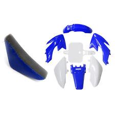 White&Blue Plastic Body Kit TALL SEAT for Honda50 CRF50 50cc-125cc Dirt Pit Bike