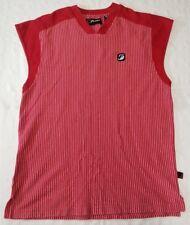 FuBu sleeveless v-neck pullover men sz XL stripes red/white