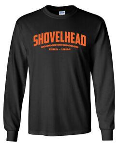 SHOVELHEAD Orange Years LONG SLEEVE T-shirt - Harley Davidson Biker Motorcycle