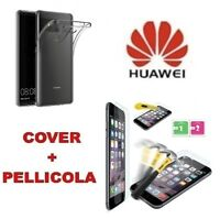 Custodia Cover Ultra Slim Silicone per Huawei Honor 7x 8 9 V10 View + Pellicola