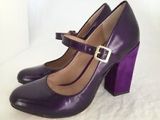 6cba9d9303f VINCE CAMUTO Vionet Purple Patent Leather Mary Jane Heels Shoes Size 6 M
