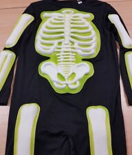 Children's Skeleton Fancy Dress Costume Halloween with Mask Aged 11-12