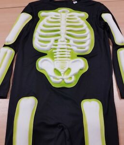 Children's Skeleton Fancy Dress Costume Halloween Aged 3-4