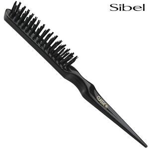 Sibel 77 Professional Black Teasing Backcombing Hair Brush With Nylon Pins