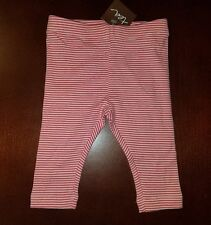 Tea Collection Infant Girl Striped Calypso Coral Capri Leggings 3-6 Months New
