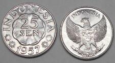 INDONESIA 25 Sen 1957  UNC
