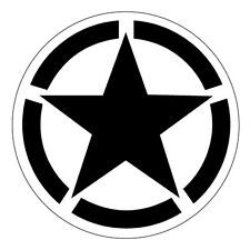 2 x Army Vehicle Stars Black Military Cool car, van decal sticker