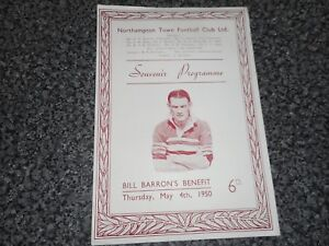 NORTHAMPTON TOWN  v  COMB LEAGUE XI 1949/50 ~ COVENTRY ~ LEICESTER NOTTS ~ STOKE