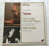 NORMA VINCENZO BELLINI LP MARIA CALLAS MARIO DEL MONACO VINYL ITALY 1980 NM/NM