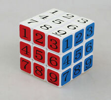 Cubetwist 57mm 3x3x3 Digital Magic Cube Sudoku Numbers White Toy Gift