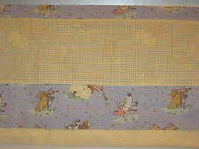 Customized Laura Ashley Hey Diddle Diddle Nursery Rhyme Valance Yellow Gingham