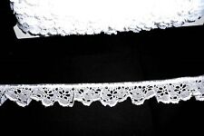 "Delicate  Polyester blend eyelet ruffled lace 1 1/4"" White (5 yards @ .60)"