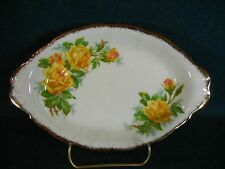 "Royal Albert Tea Rose Oval 8 3/8"" Relish Serving Tray"