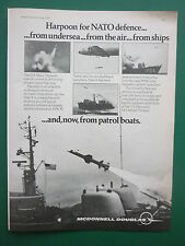 4/1974 PUB MCDONNELL DOUGLAS HARPOON ANTI SHIP MISSILE US NAVY HYDROFOILS AD