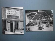 2 X 1960s PHOTOS MUNDELL & BOLLAM FOOD DISTRIBUTORS POOLE WAREHOUSE & ENTRANCE