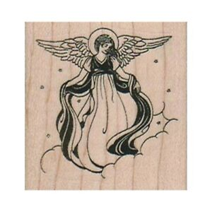 NEW Angel On Cloud RUBBER STAMP, Angel Stamp, Heavenly Angel Stamp, Christmas
