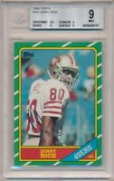 JERRY RICE 1986 TOPPS #161 RC ROOKIE CARD SAN FRANCISCO 49ERS BGS 9 MINT B