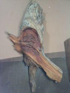 Stunning handmade,carved folk art WOOD SPIRIT BY S D POWERS