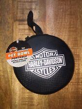 RARE Harley Davidson 2007 Bar & Shield PORTABLE Pet Travel Water & Food Bowl NEW