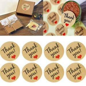 Decorative Kraft Paper Love Thank You Seal Decorative Sticker LS