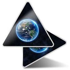 2 x Triangle Stickers 10 cm - Planet Earth Globe Space NASA  #14522