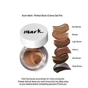 Avon Mark. Perfect Brow Creme Gel Pot ~ Various Colours ~ Pls Select ~ Free P&P