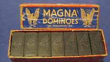 Vintage Eagle MAGNA DOMINOES by The Embossing Co. Albany, NY in Original Box