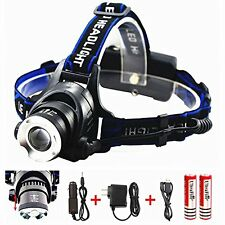 Benran Waterproof LED Headlamp Headlight Rechargeable Head Flashlight Lamp