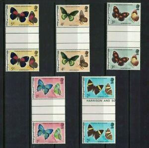 Belize stamps - blocks - 1974 -1978 Butterflies of Belize - Mint Nh fresh