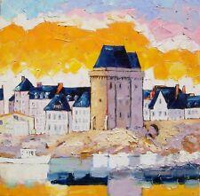 Grande toile de Nolac 50X50 cm tableau bretagne TOUR SOLIDOR saint malo