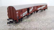 Fleischmann N 830603 Leig - Wageneinheit aus 2 Güterwagen Epoche III Neu  OVP