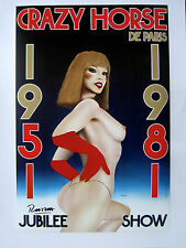 """Hand Signed Razzia """"Crazy Horse"""" Poster on Linen"""