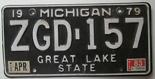 Michigan 1983 SINGLE PLATE YEAR License Plate HIGH QUALITY # ZGD-157