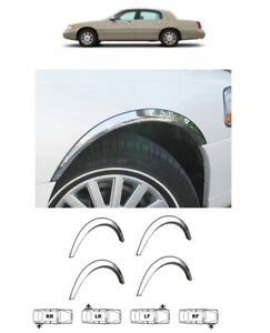 Wheel arch covers chrome styling wing body kit for LINCOLN TOWN CAR 2003-2011