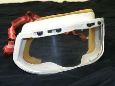 alte Motorradbrille, Brille Oldtimer Motorrad Helm - Schutzbrille weiß rot