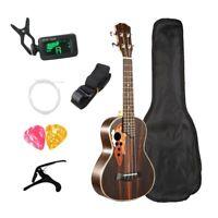 1X(Kits de Ukelele de Concierto 23 Pulgadas de Palisandro Guitarra de 4 Cue X7A4