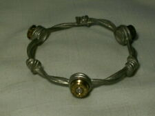 ...LIZZY J'S...Barbed Wire & Bullets Bangle Bracelet...