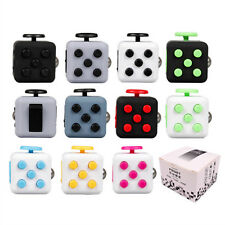 2 pcs Fidget Cube Anxiety Stress Relief Focus Attention Therapy Adult Kid Gift