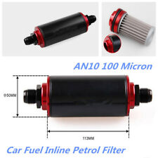 Universal AN10 100 Micron Aluminum Car Truck High Flow Fuel Inline Petrol Filter